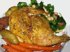 Bacon Herb Roasted Chicken
