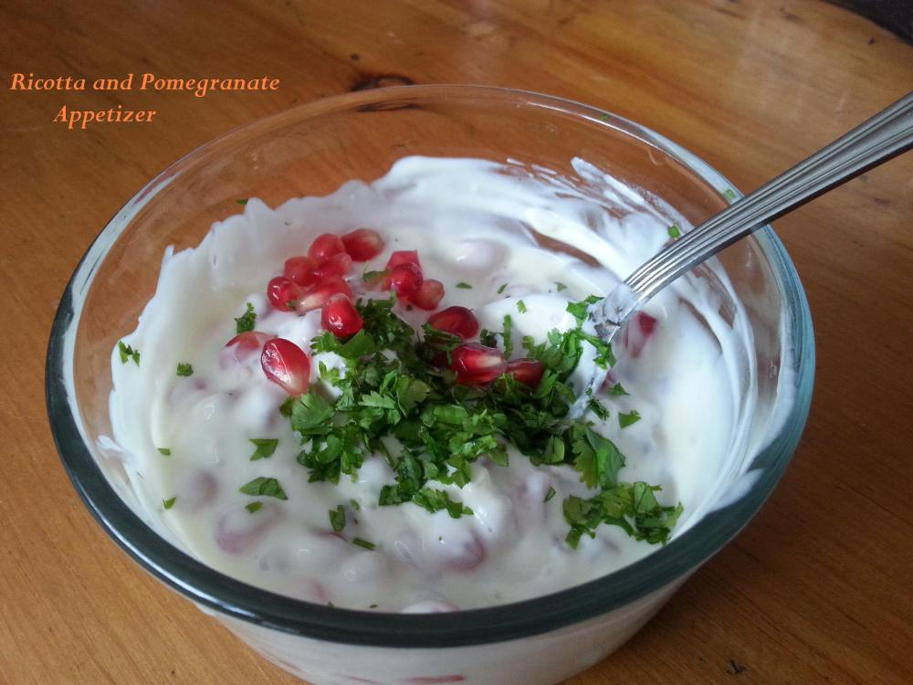 Ricotta and Pomegranate Appetizer