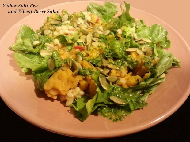 Yellow Split Pea and Wheat Berry Salad