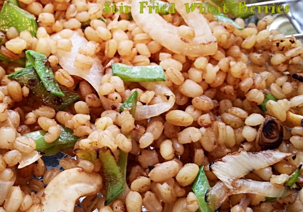 Stir Fried Wheat Berries