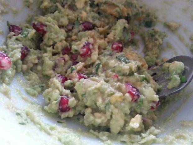 Pomegranate-Mango Guacamole