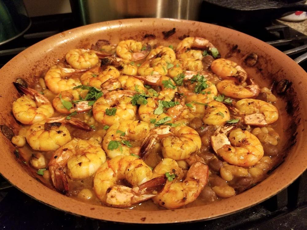 garlic-shrimp-with-white-beans